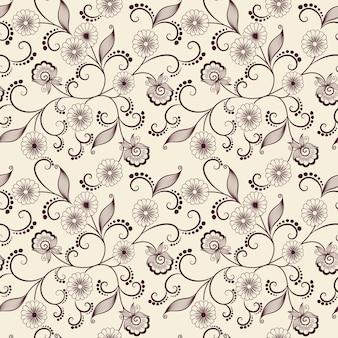 Vector flor sin fisuras patrón de fondo. textura elegante para los fondos. clásico de lujo a la antigua ornamento floral, textura transparente para fondos de pantalla, textiles, envoltura.
