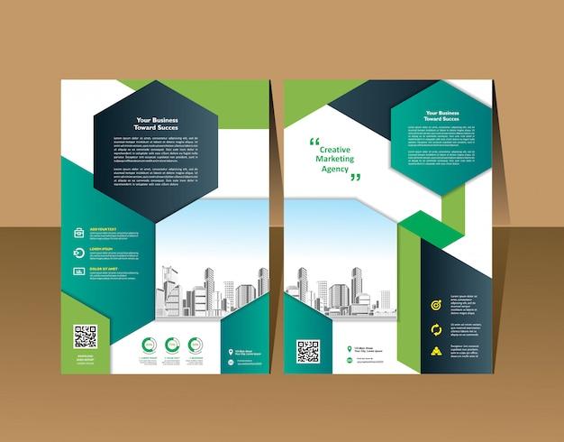 Vector folleto diseño moderno diseño plantilla información gráfica