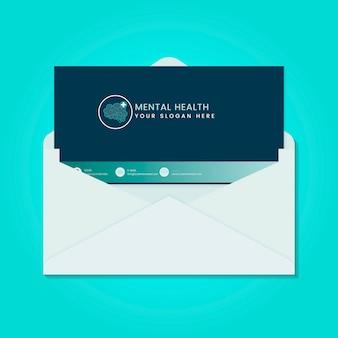 Vector de folleto de publicidad de salud mental