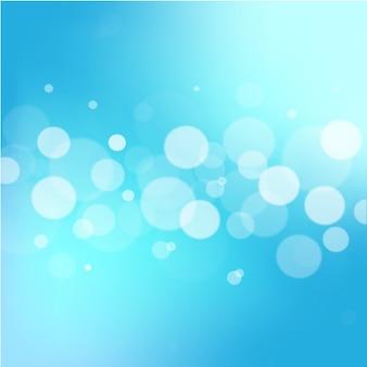 Vector de fondo abstracto azul bokeh