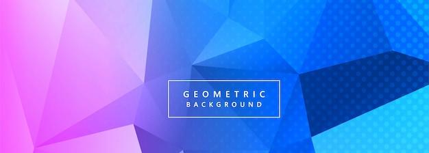 Vector de fondo abstracto colorido polígono banner