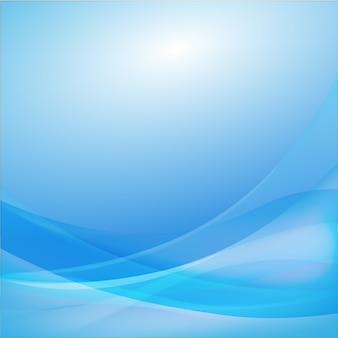Vector de fondo abstracto de curva azul