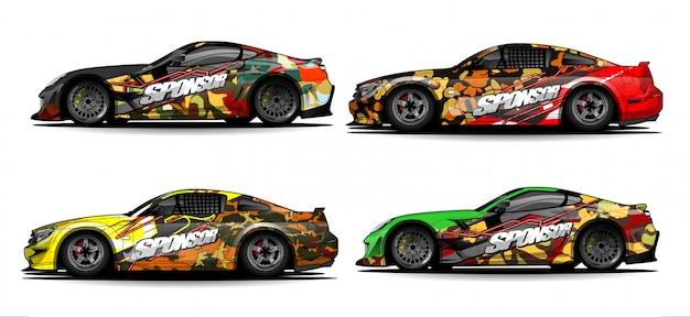 Vector de fondo abstracto para diseño de envoltura de coche de carreras y librea de vehículo