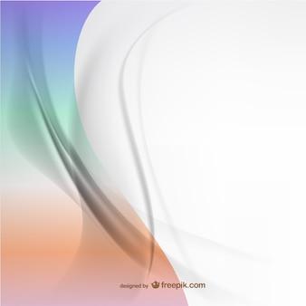Vector fondo abstracto con líneas curvas