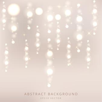 Vector de fondo abstracto de luces de lluvia