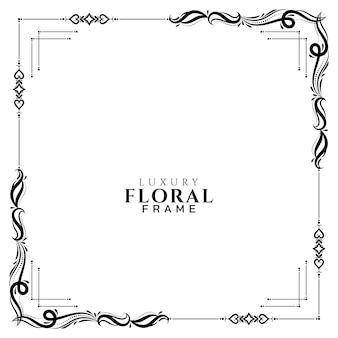 Vector de fondo abstracto marco floral