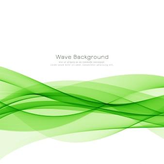 Vector de fondo abstracto de la onda verde