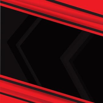 Vector de fondo abstracto rojo negro contraste rojo concepto corporativo