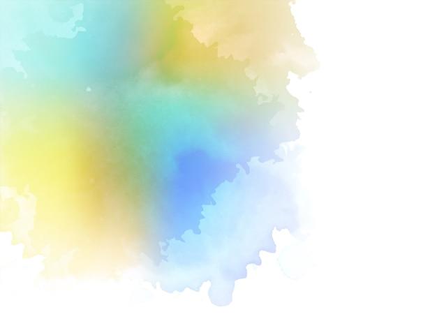 Vector de fondo acuarela abstracta