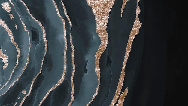 Vector de fondo de acuarela azul oscuro brillante