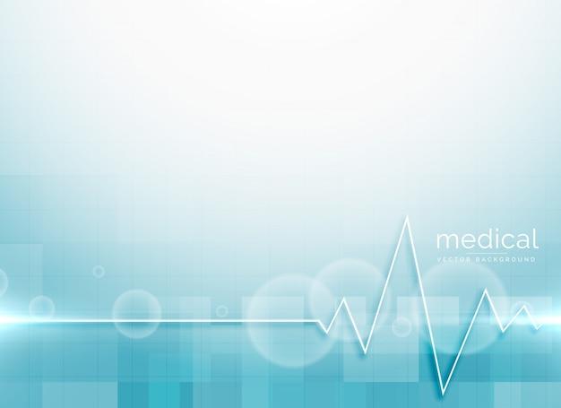 Vector de fondo azul ciencia médica