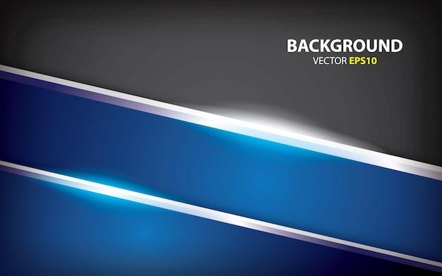 Vector de fondo azul metálico abstracto