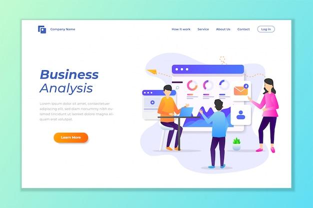 Vector de fondo de banner web para análisis de datos