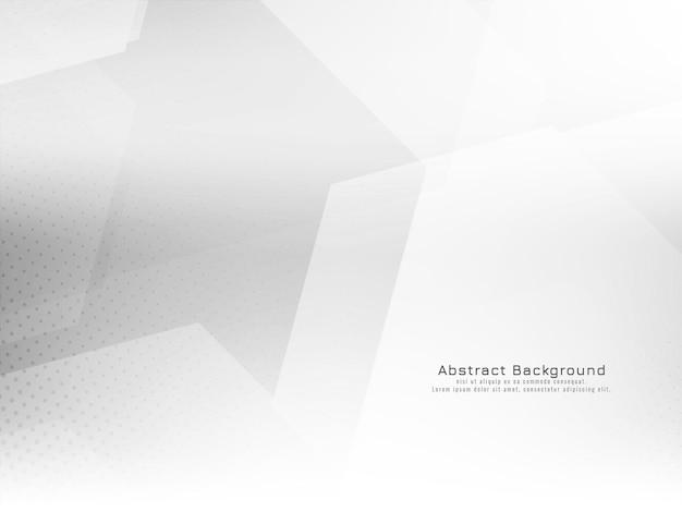 Vector de fondo blanco brillante elegante estilo hexagonal geométrico