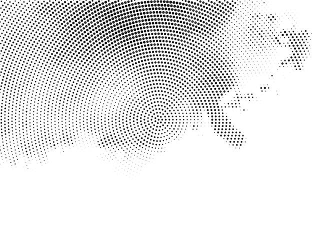 Vector de fondo blanco elegante diseño de semitono vector gratuito