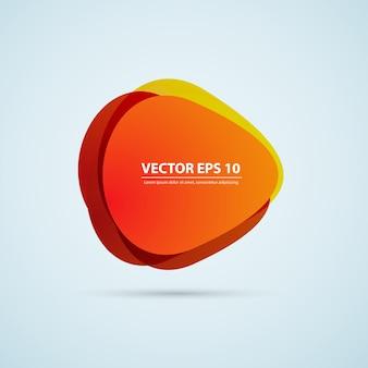 Vector de fondo de color círculos abstractos.