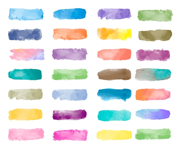 Vector de fondo colorido acuarela parche