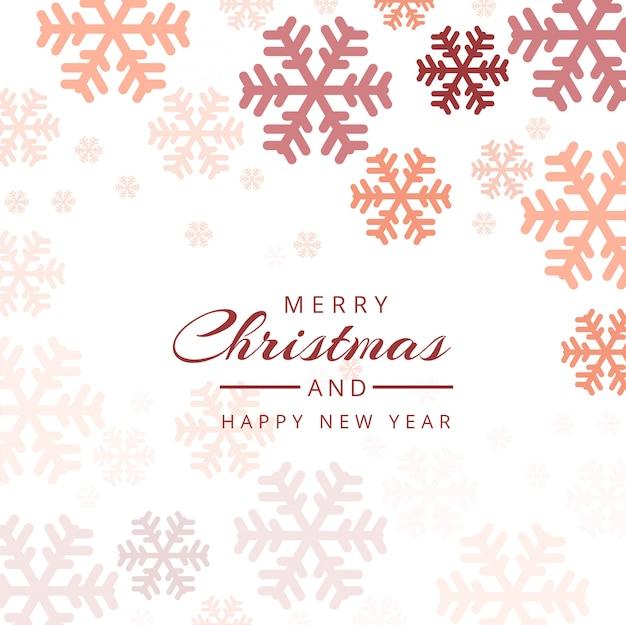 Vector de fondo colorido decorativo de copos de nieve de navidad