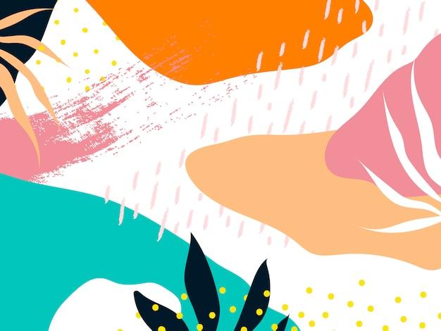 Vector de fondo colorido diseño de memphis