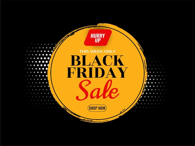 Vector de fondo de concepto de venta de viernes negro moderno