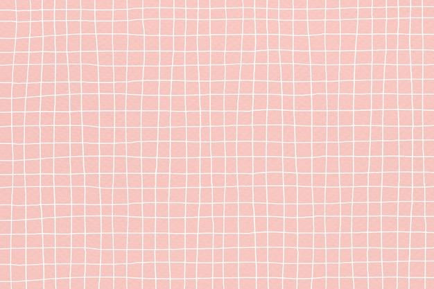 Vector de fondo de cuadrícula en color rosa