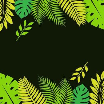 Vector fondo de hojas tropicales