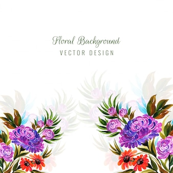 Vector de fondo decorativo flores coloridas