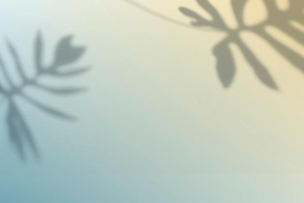 Vector de fondo degradado abstrac con sombra de hoja