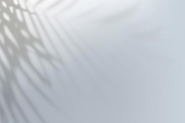 Vector de fondo degradado gris abstracto con sombra de hojas tropicales