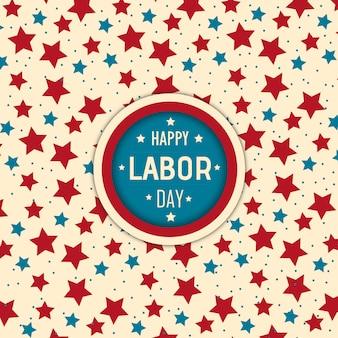 Vector fondo del día del trabajo estadounidense