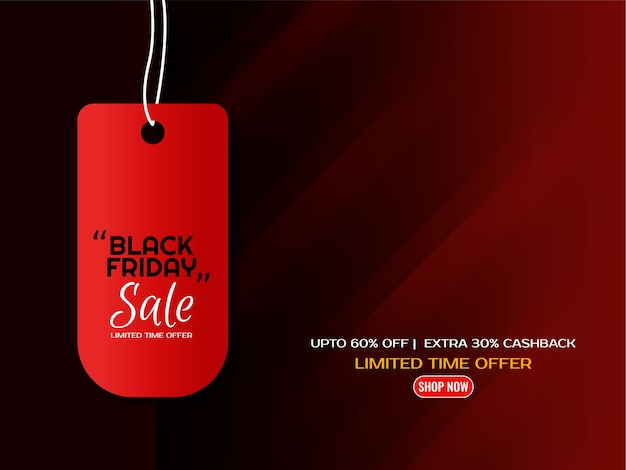 Vector de fondo de diseño de etiqueta de venta de viernes negro abstracto