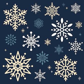 Vector de fondo de diseño de navidad de copo de nieve