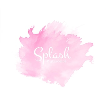 Vector de fondo de diseño de salpicaduras de acuarela rosa suave abstracto