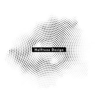 Vector de fondo de diseño de semitono circular moderno
