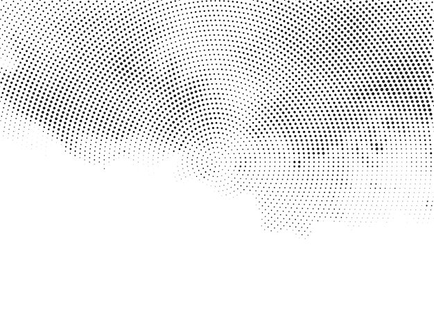 Vector de fondo de diseño de semitono decorativo moderno