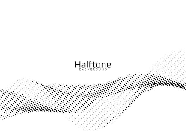 Vector de fondo de diseño de semitono de estilo de onda