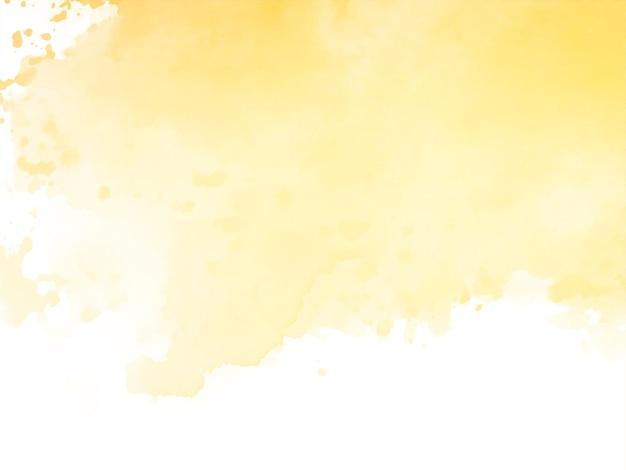 Vector de fondo de diseño de textura de acuarela amarilla elegante