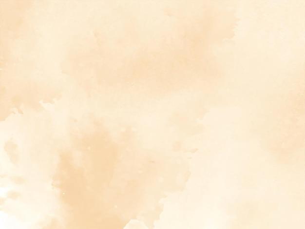 Vector de fondo de diseño de textura de acuarela marrón suave