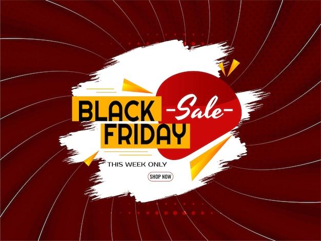 Vector de fondo de estilo de rayos cómicos de venta de viernes negro abstracto