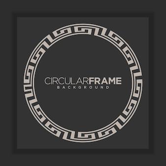 Vector de fondo floral marco circular