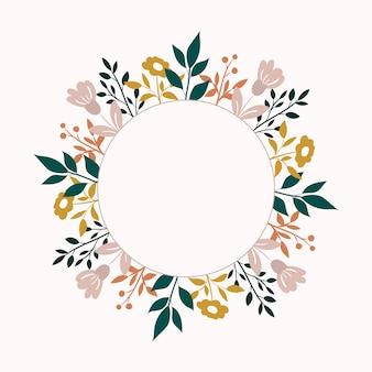 Vector de fondo de flores. marco floral