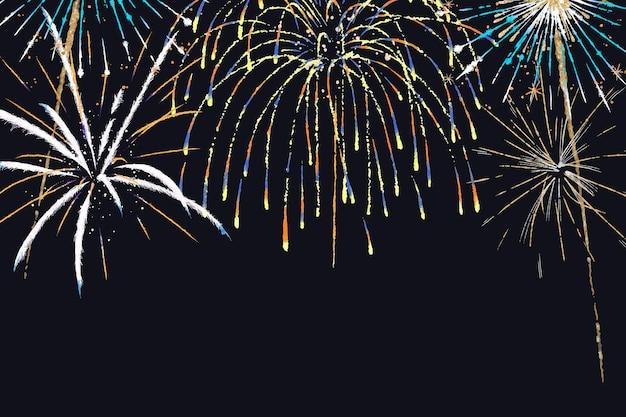 Vector de fondo de fuegos artificiales coloridos en tema de celebración