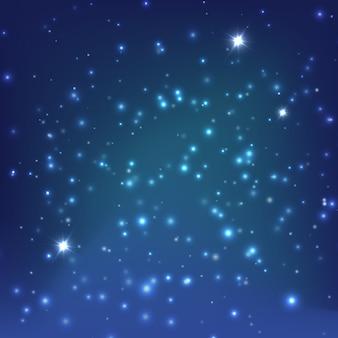 Vector de fondo de galaxia realista
