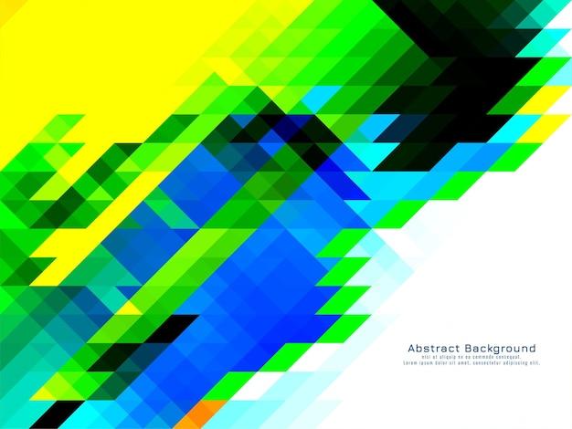 Vector de fondo geométrico colorido patrón de mosaico triangular