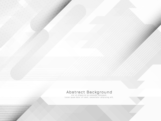 Vector de fondo geométrico gris y blanco moderno elegante