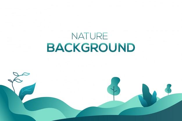 Vector de fondo de ilustración líquida de naturaleza
