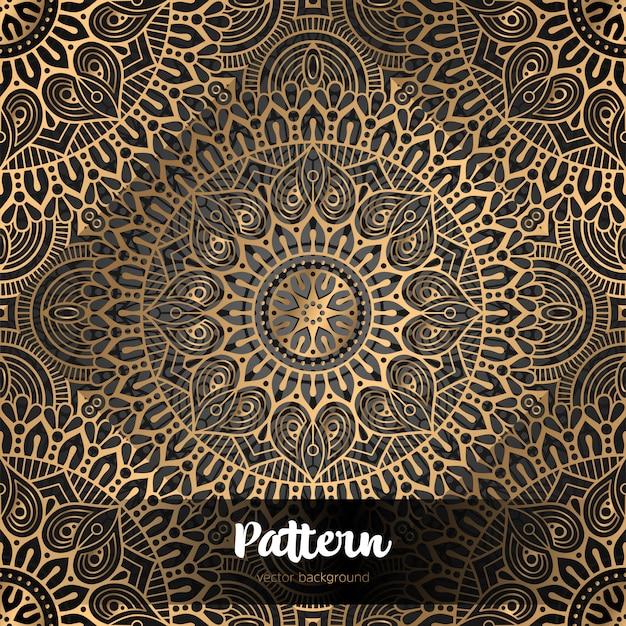 Vector fondo islámico con mandala