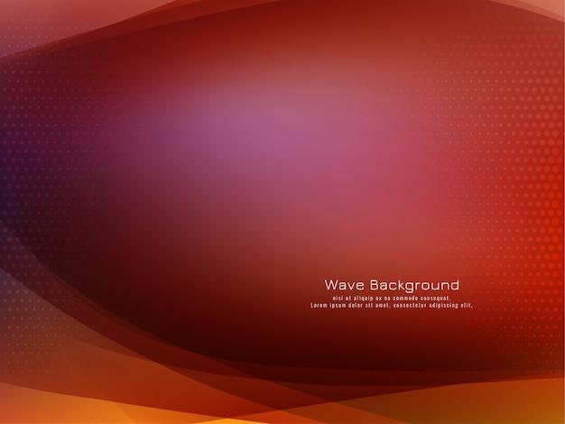 Vector de fondo de malla elegante diseño de onda abstracta