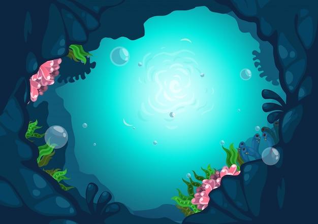 Bajo el vector de fondo de mar