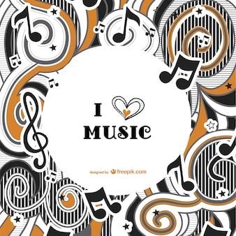 Vector de fondo me encanta la música